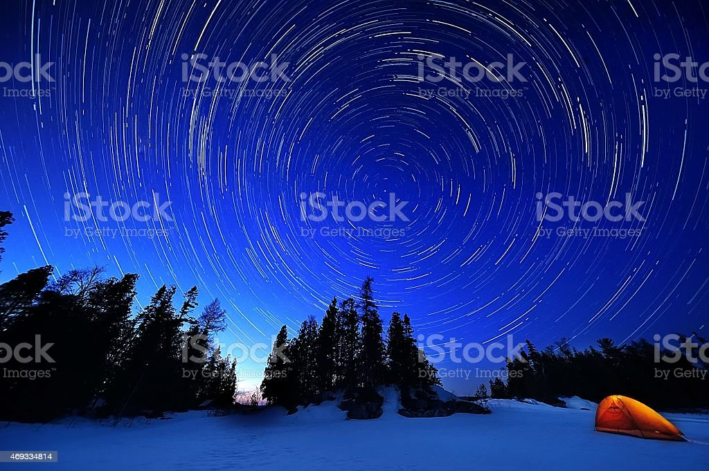 Star tracks stock photo