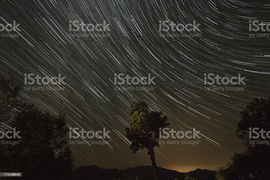 Star Trail royalty-free stock photo