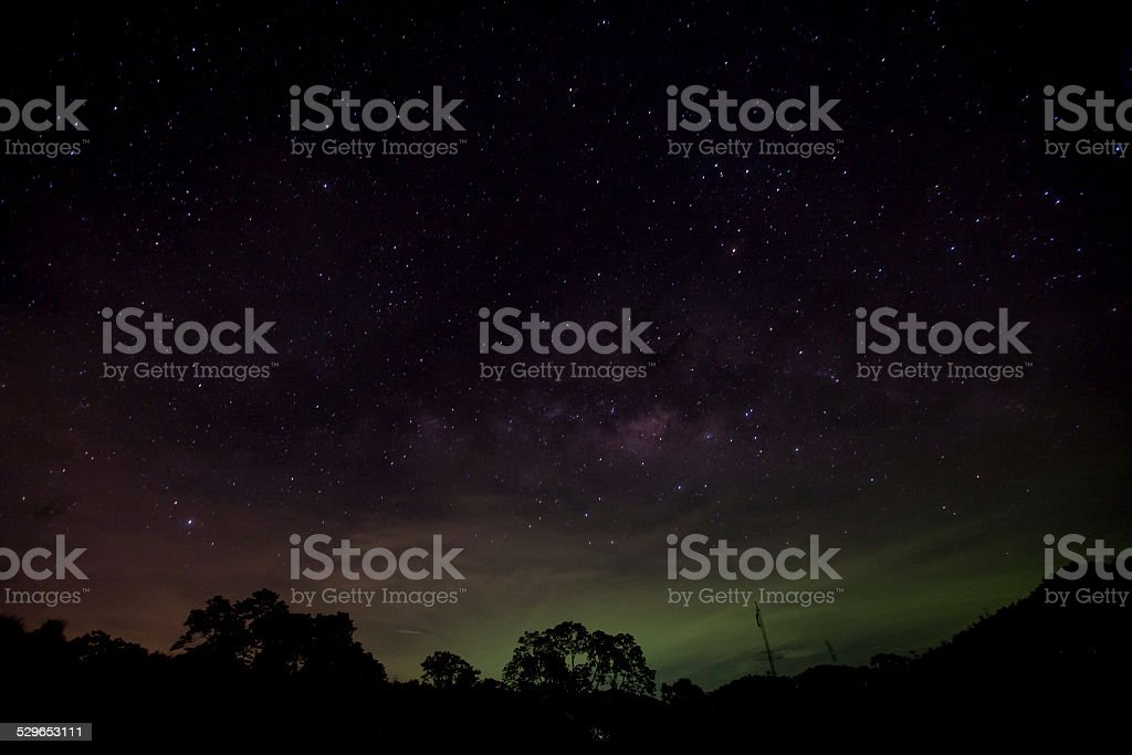 Star Trails in thailand stock photo
