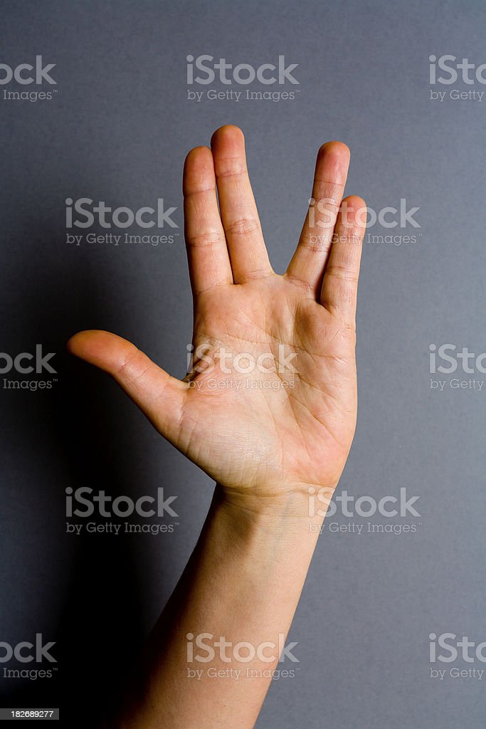 Star Trek hand royalty-free stock photo