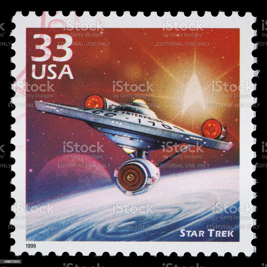 USA Star Trek postage stamp stock photo