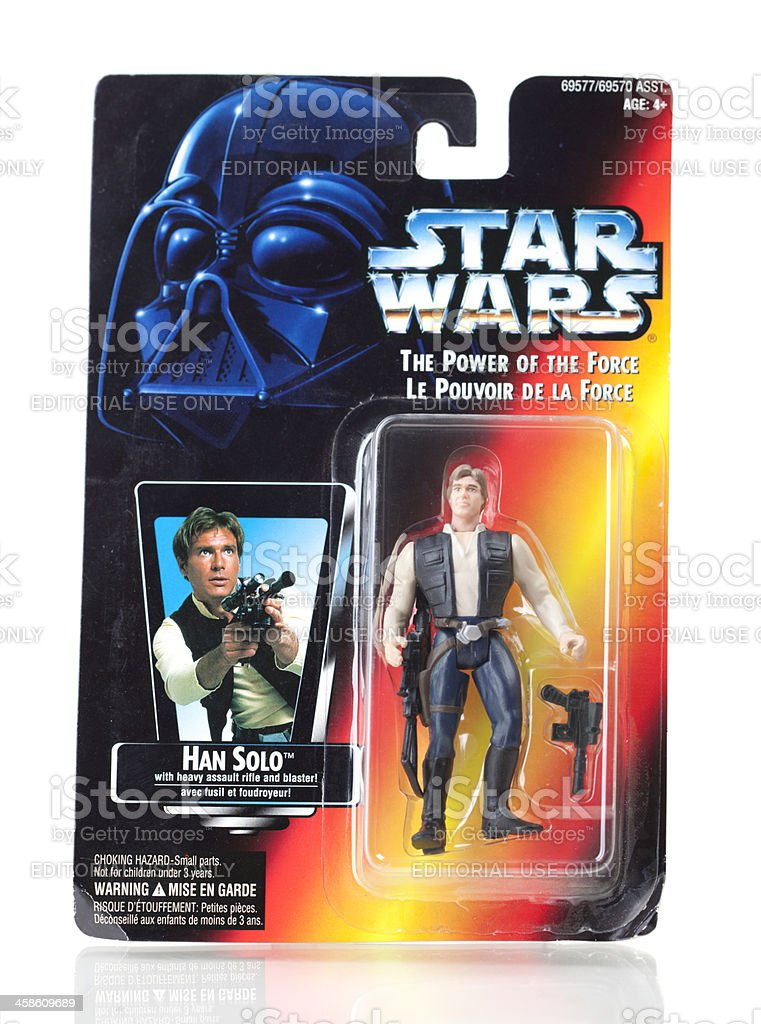 Star Wars Action Figure - Han Solo royalty-free stock photo