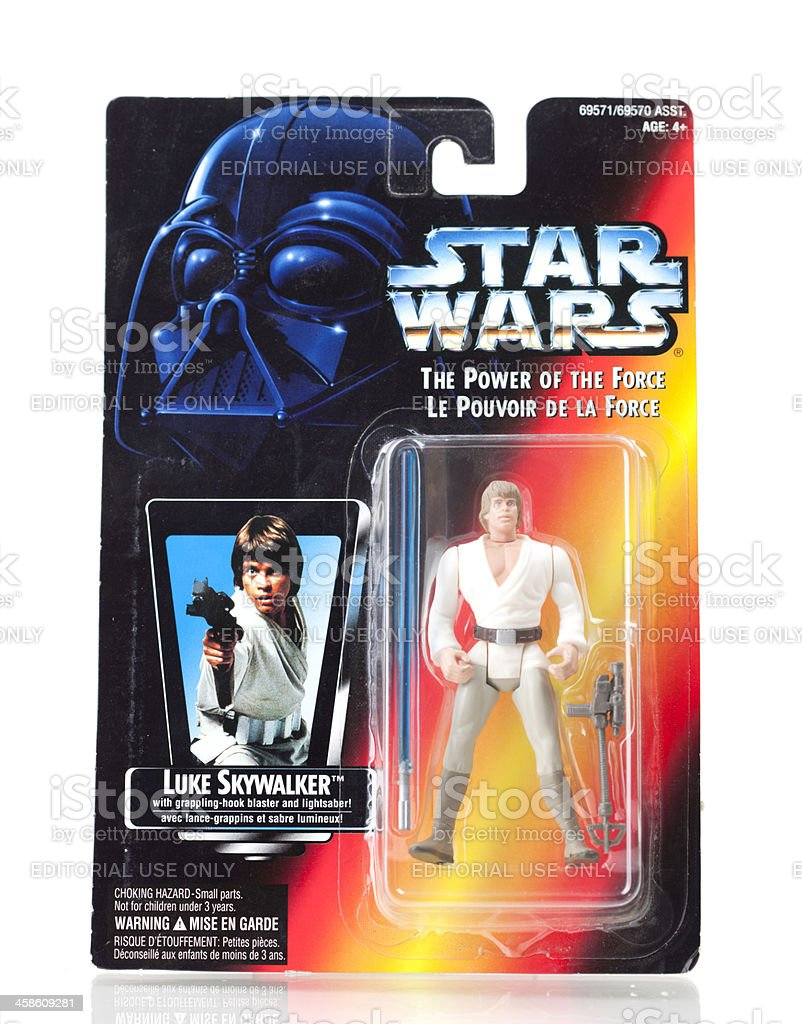 Star Wars Action Figure - Luke Skywalker stock photo