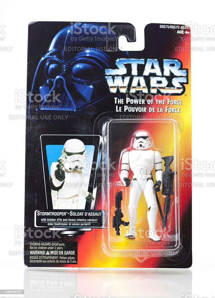 Star Wars Action Figure - Stormtrooper stock photo