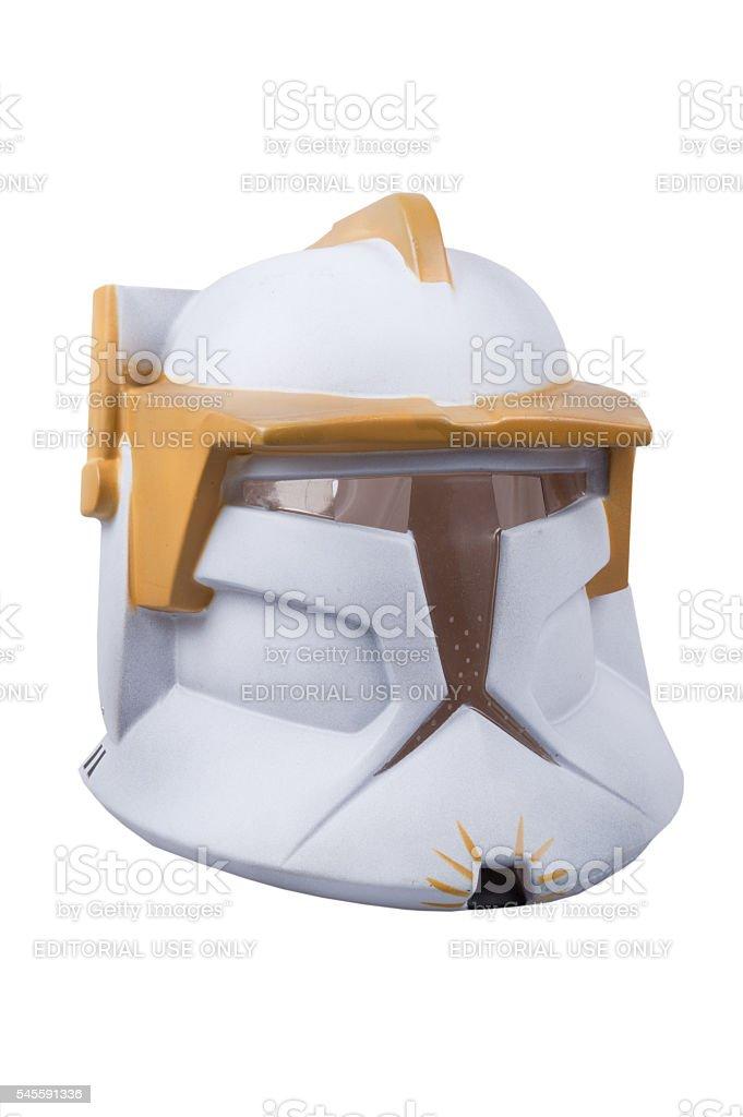 Star Wars Clone Trooper Mask stock photo