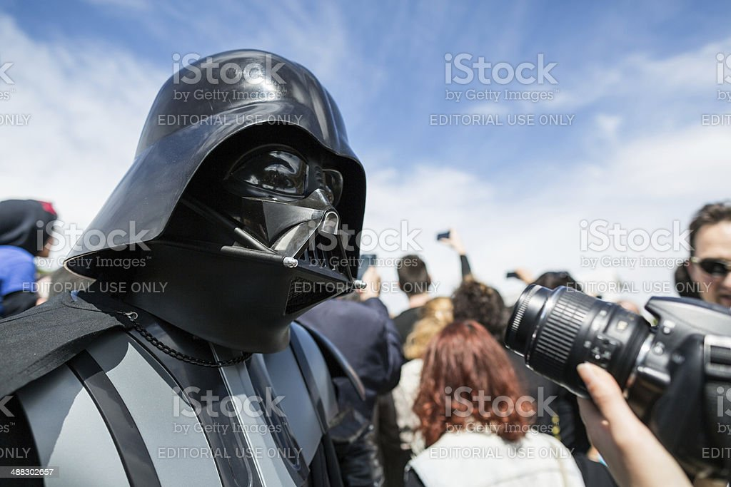 Star Wars Day 2014 in Rome stock photo