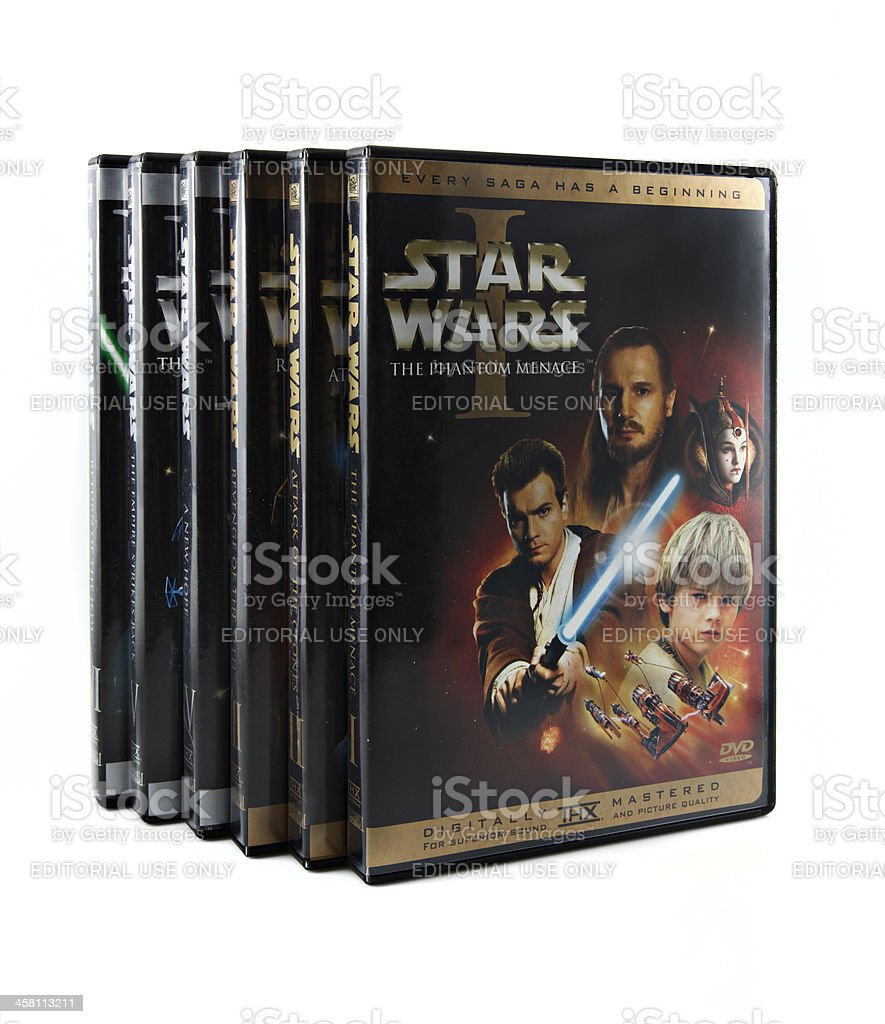 Star Wars DVD set stock photo