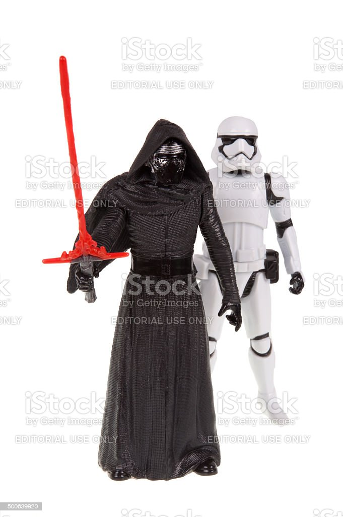 Star Wars First Order Action Figures stock photo