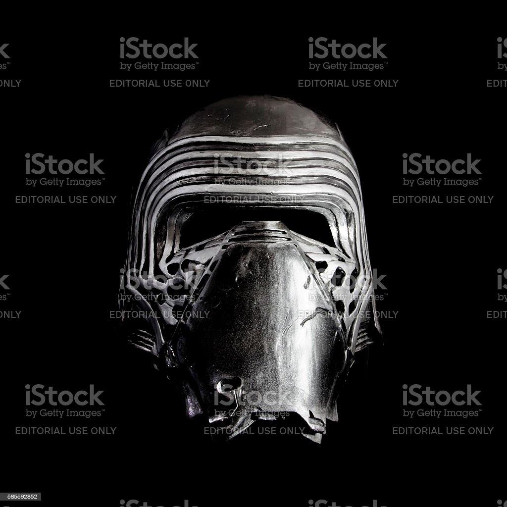 Star Wars Kylo Ren helmet stock photo