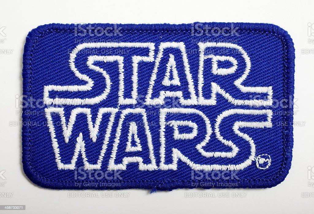 Star Wars Logo Cloth Patch stock photo
