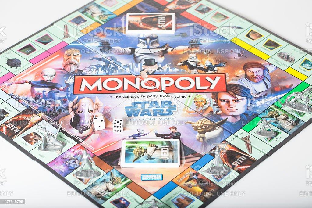 Star Wars Monopoly stock photo