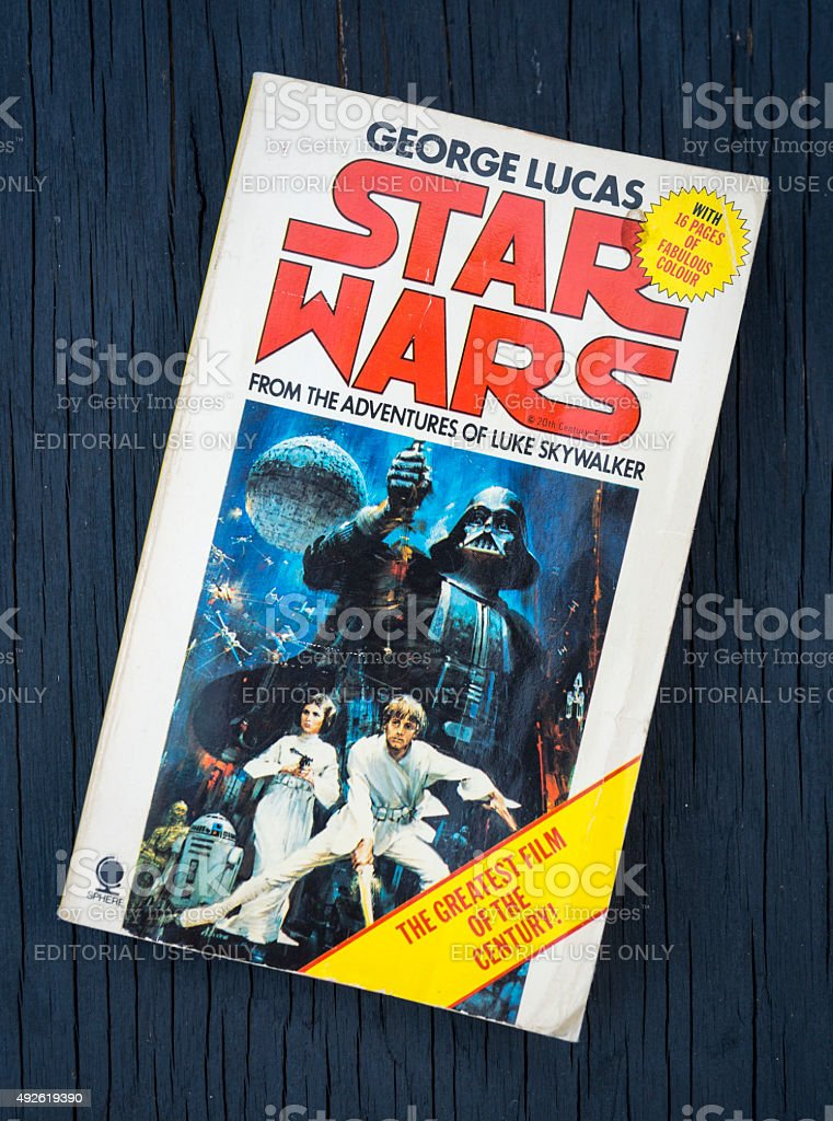 Star Wars Paperback Book stock photo