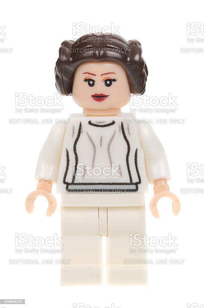 Star Wars Princess Leia Lego Minifigure stock photo