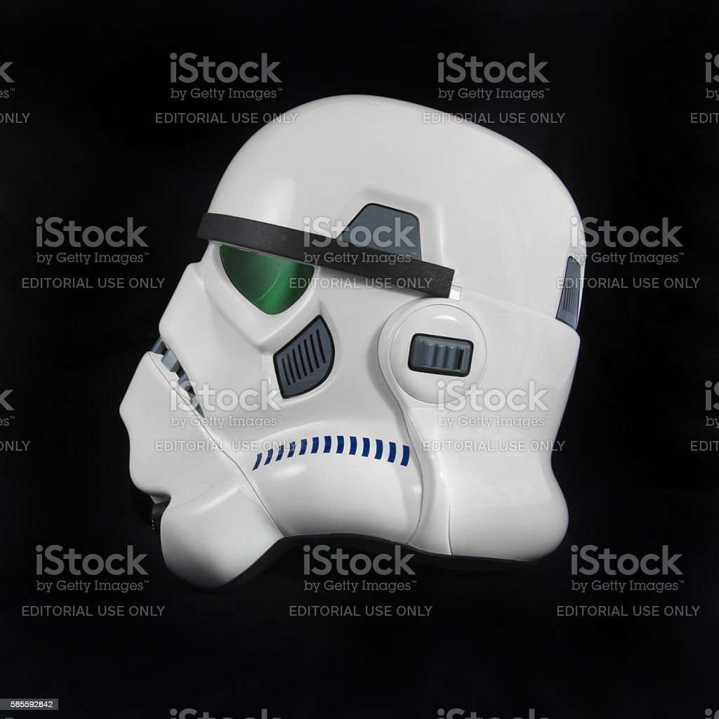 Star Wars Stormtrooper helmet stock photo