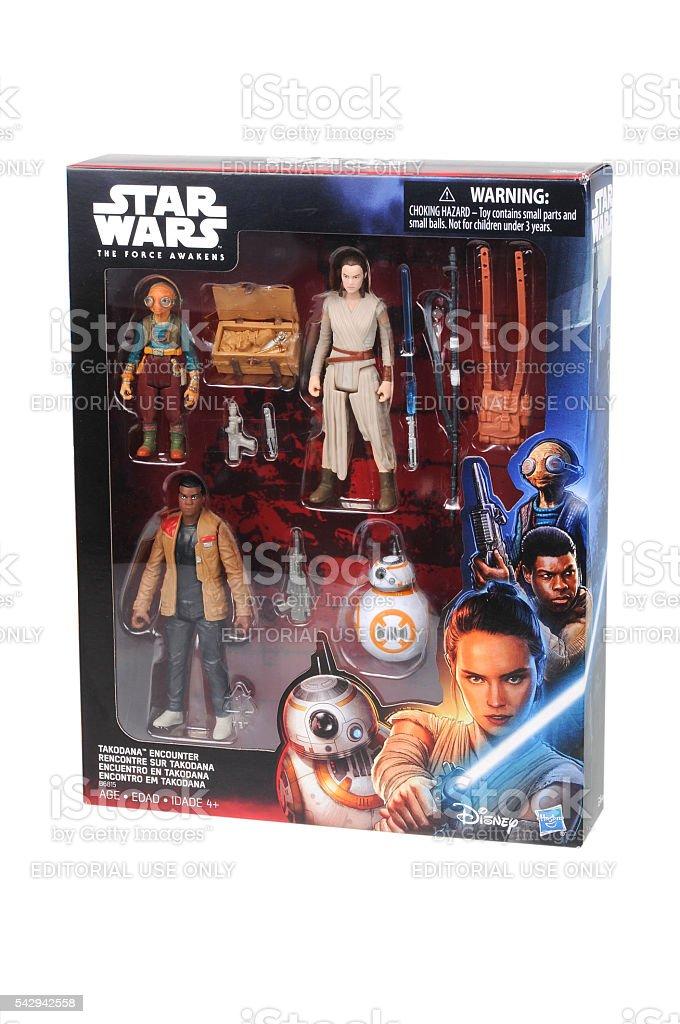 Star Wars Takodana Action Figures stock photo