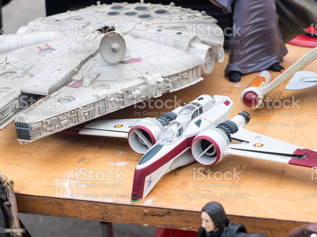 Star Wars Toys at rummage sale stock photo