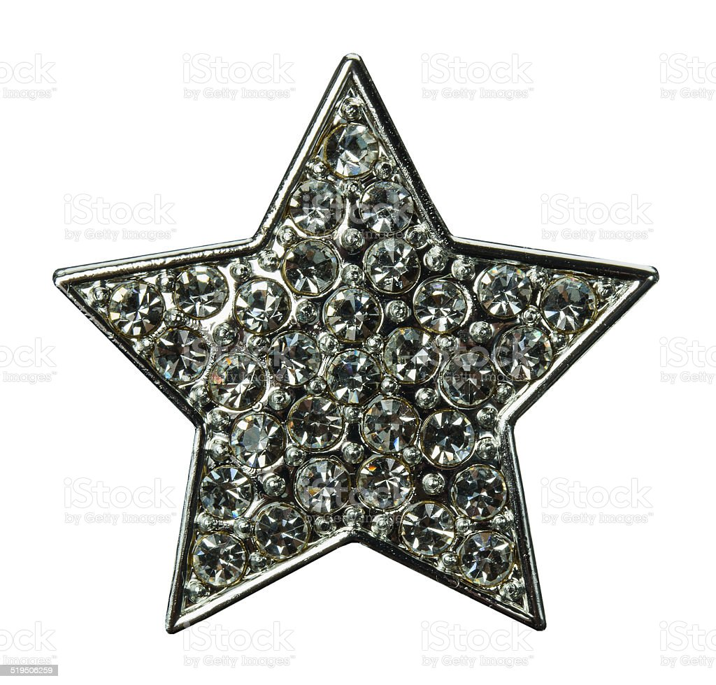 star with gems isolated on the white stock photo