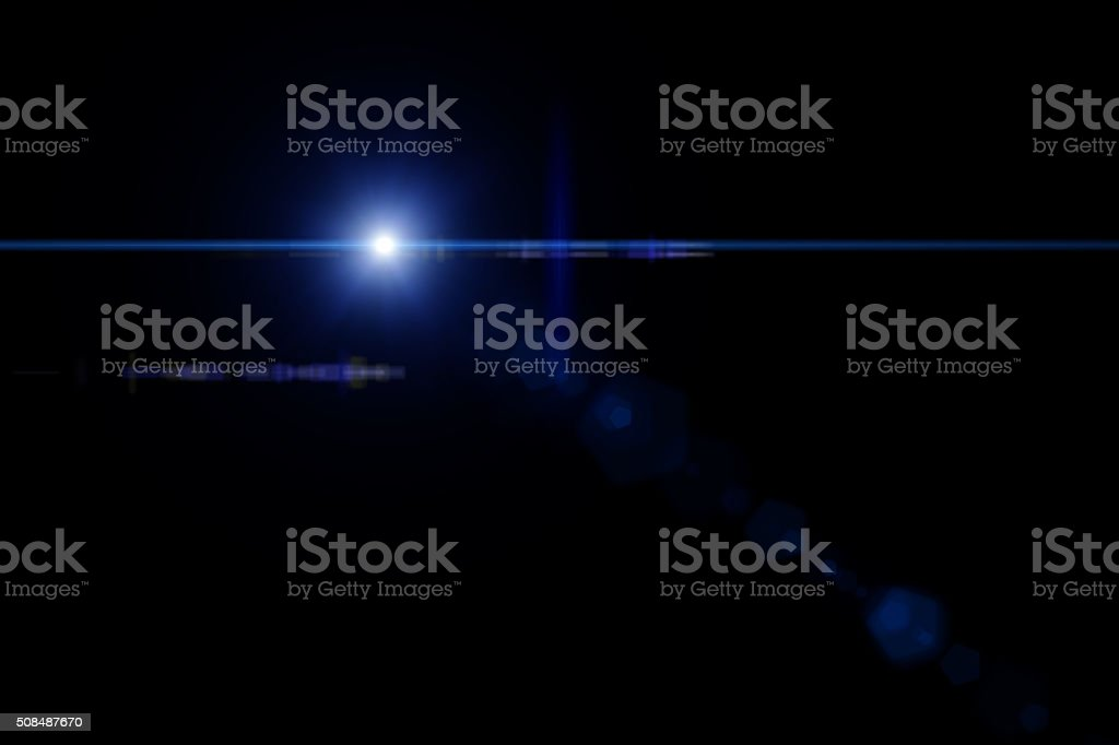 Star With Lens Flare stock photo