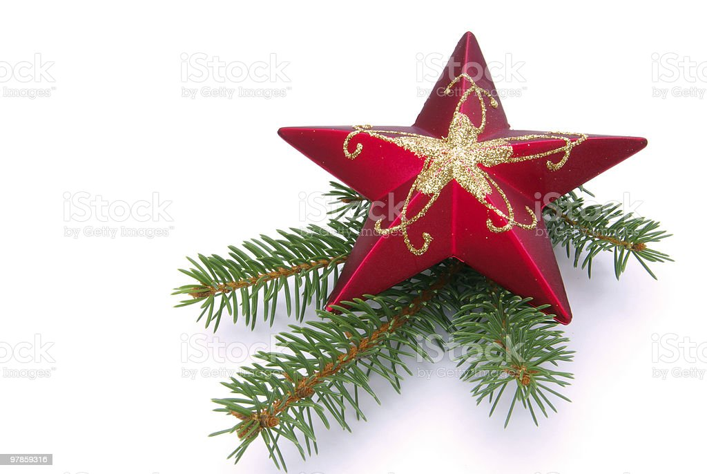 star with twig royalty-free stock photo