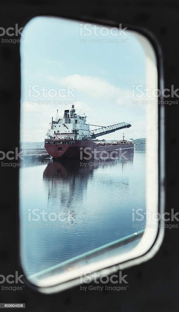 Starboard Window View stock photo