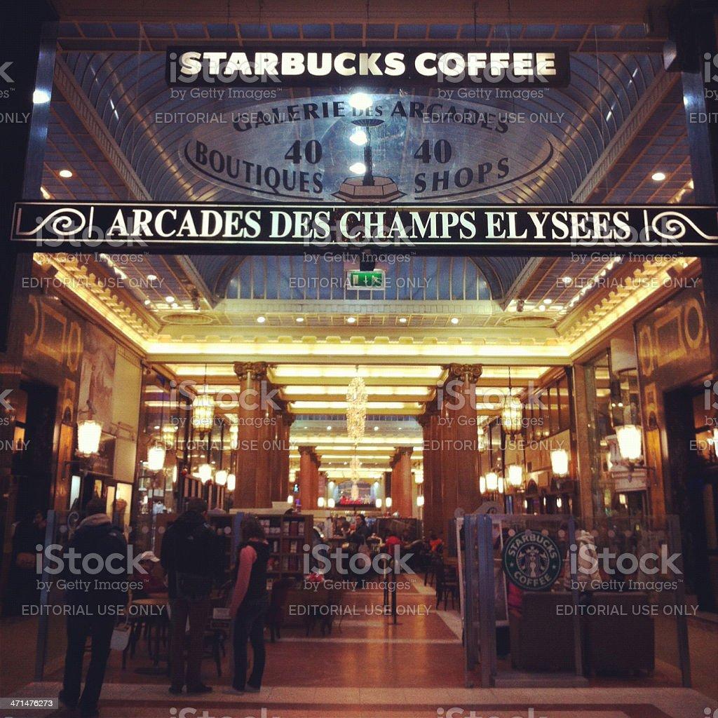 Starbucks Arcades des Champs Elys?es, Paris stock photo