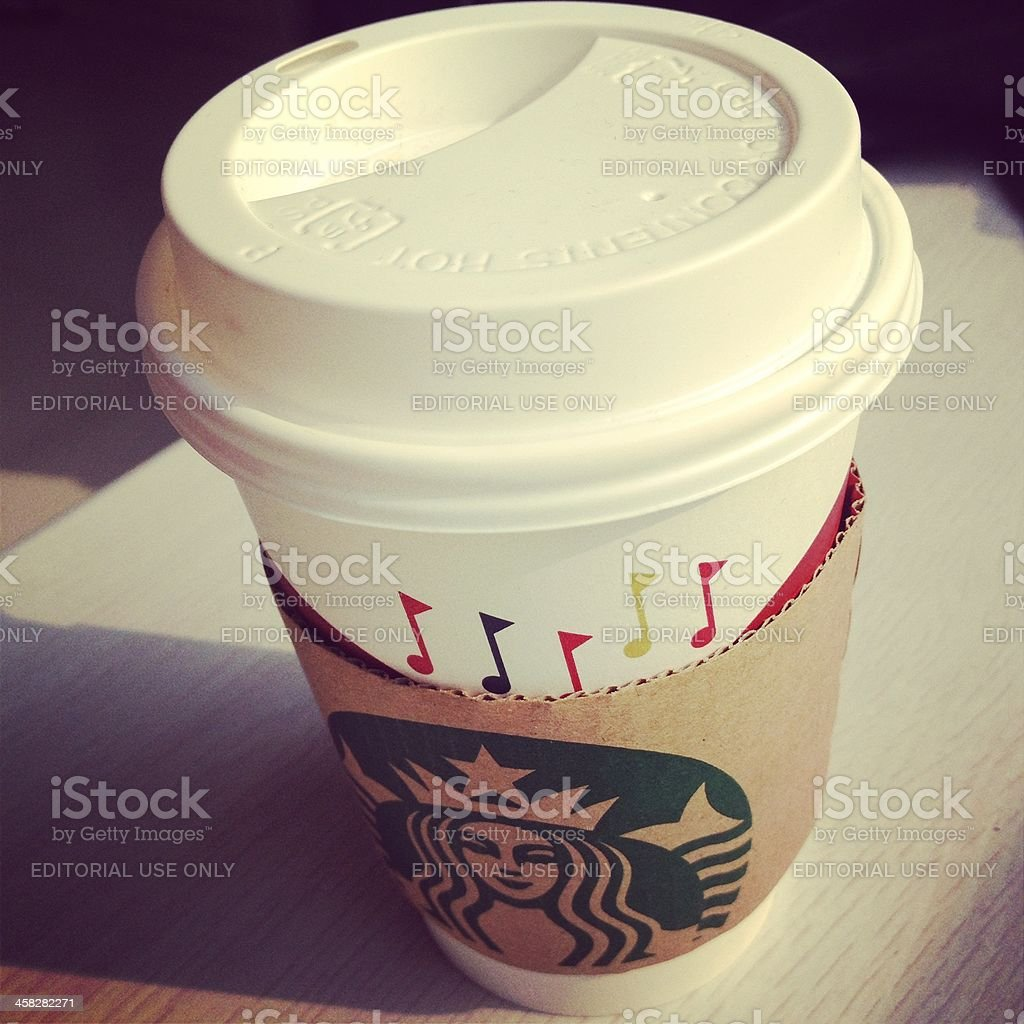 Starbucks Christmast Cup royalty-free stock photo