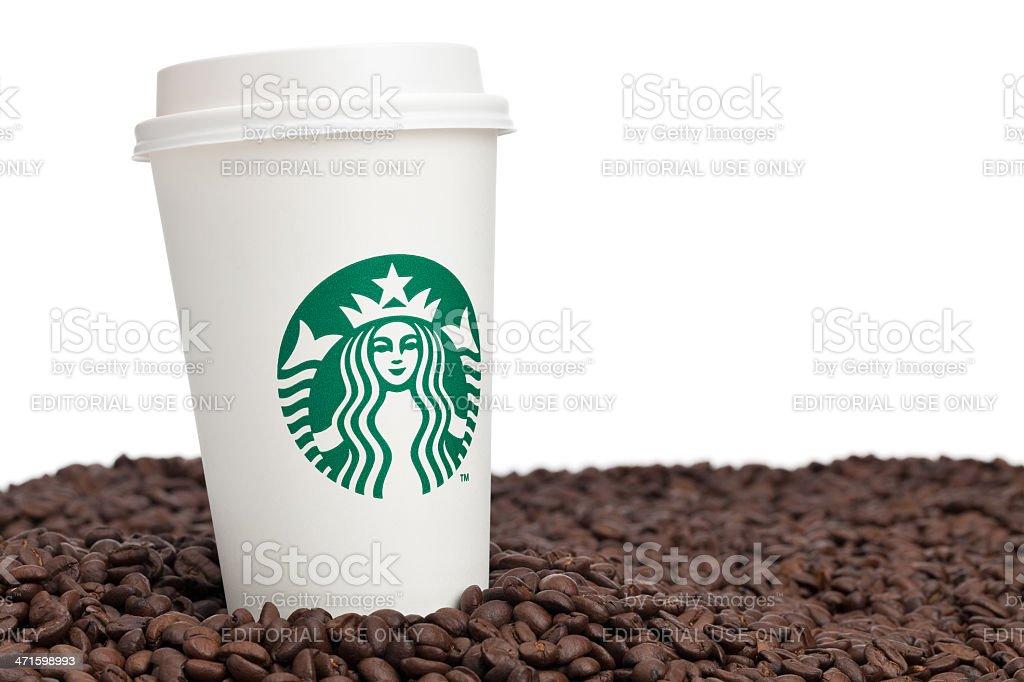 Starbucks Coffee and Beans stock photo