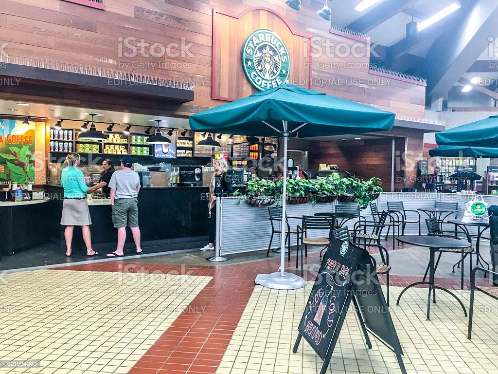 Starbucks coffee at Kahului Airport, Maui, Hawaii stock photo