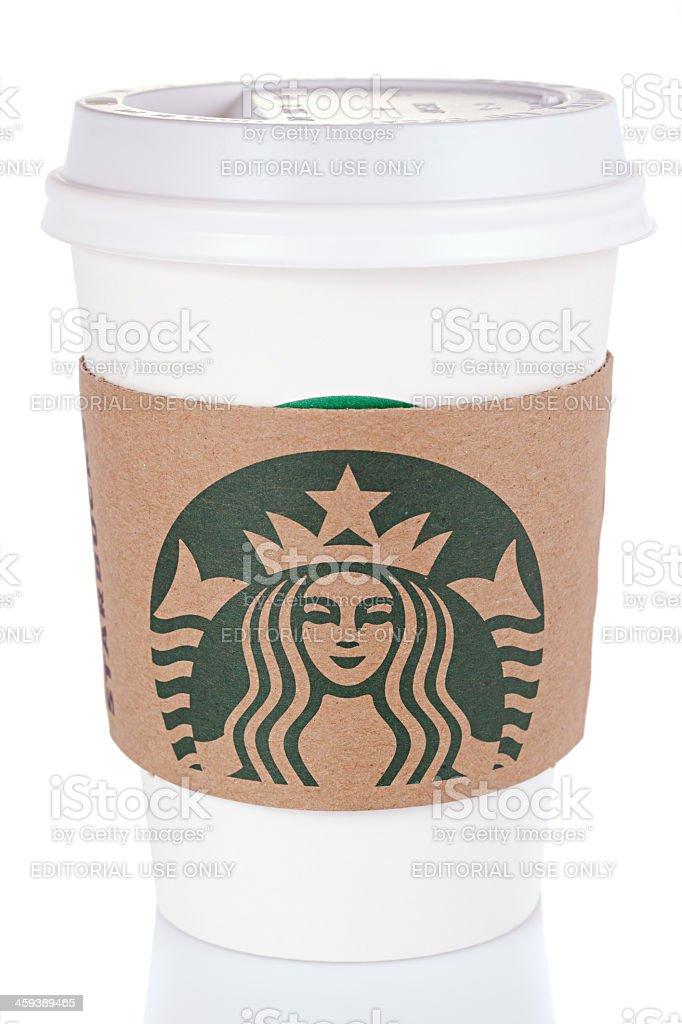 Starbucks Coffee Cup royalty-free stock photo