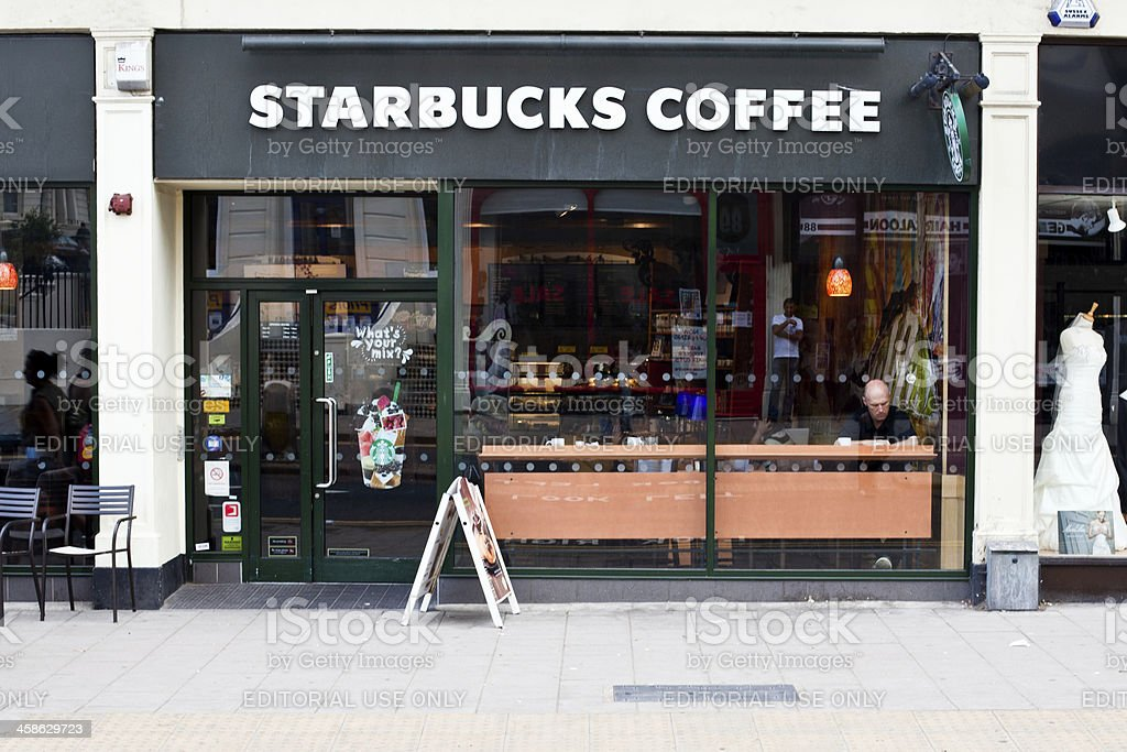 Starbucks Coffee in London royalty-free stock photo