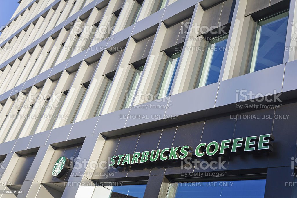 Starbucks Coffee in Poland stock photo