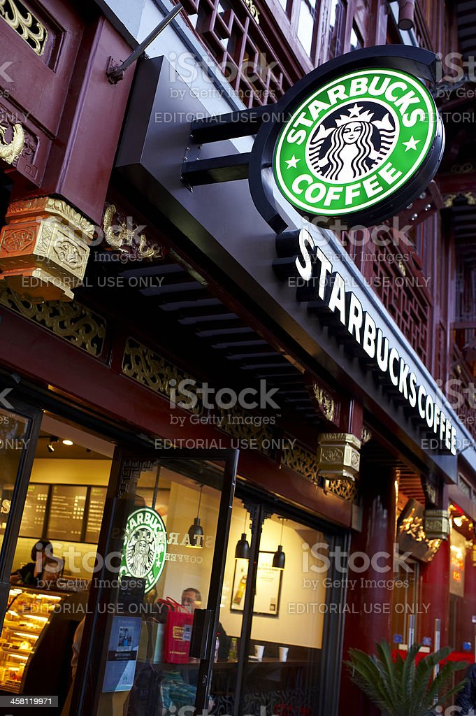 Starbucks Coffee in Shanghai stock photo