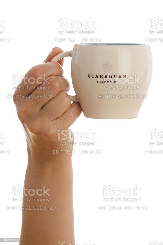 Starbucks coffee mug royalty-free stock photo