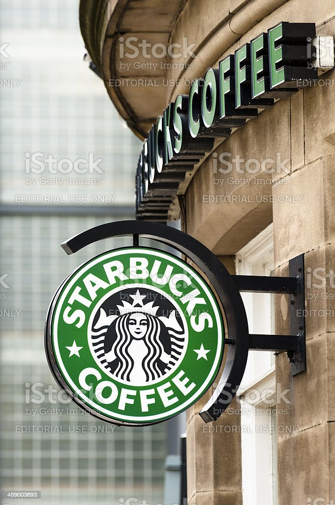 Starbucks coffee shop in Manchester stock photo