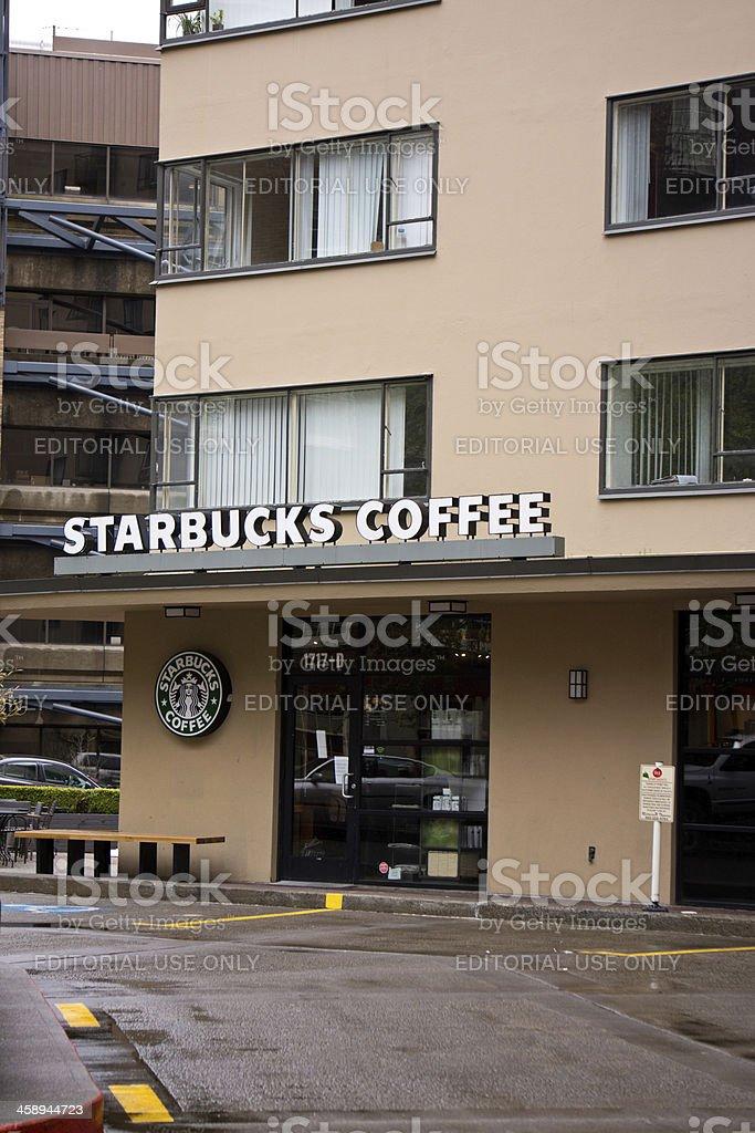 Starbucks Coffee Shop In Portland Oregon royalty-free stock photo