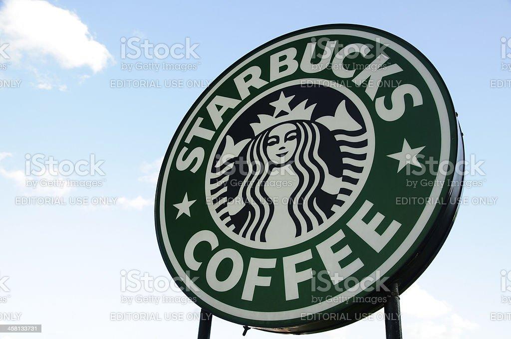 Starbucks Coffee sign stock photo