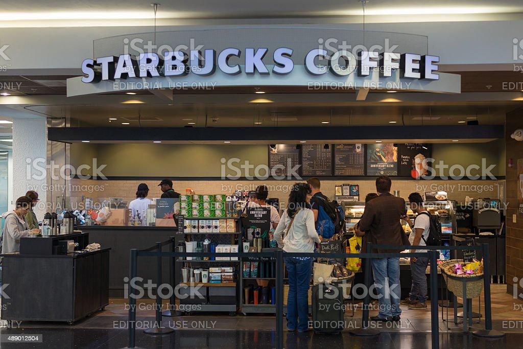 Starbucks Coffee store at Miami International Airport stock photo