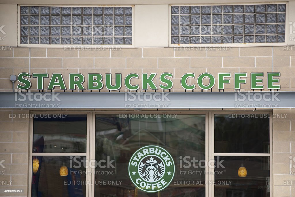 Starbucks Coffee Storefront royalty-free stock photo