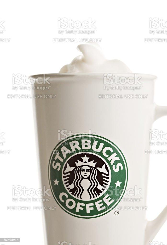 Starbucks Coffee With Foam royalty-free stock photo