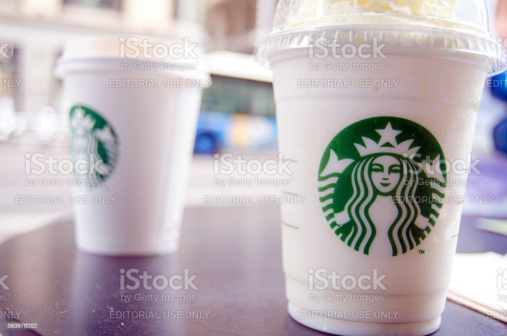 Starbucks drinks stock photo
