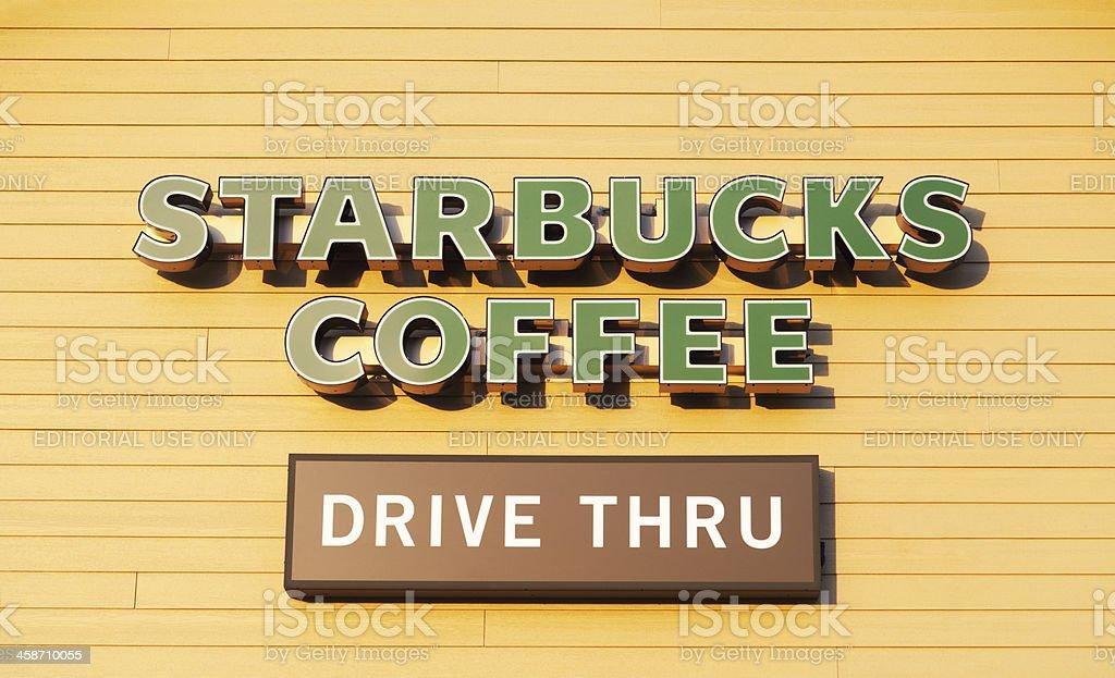 Starbucks Drive Thru royalty-free stock photo