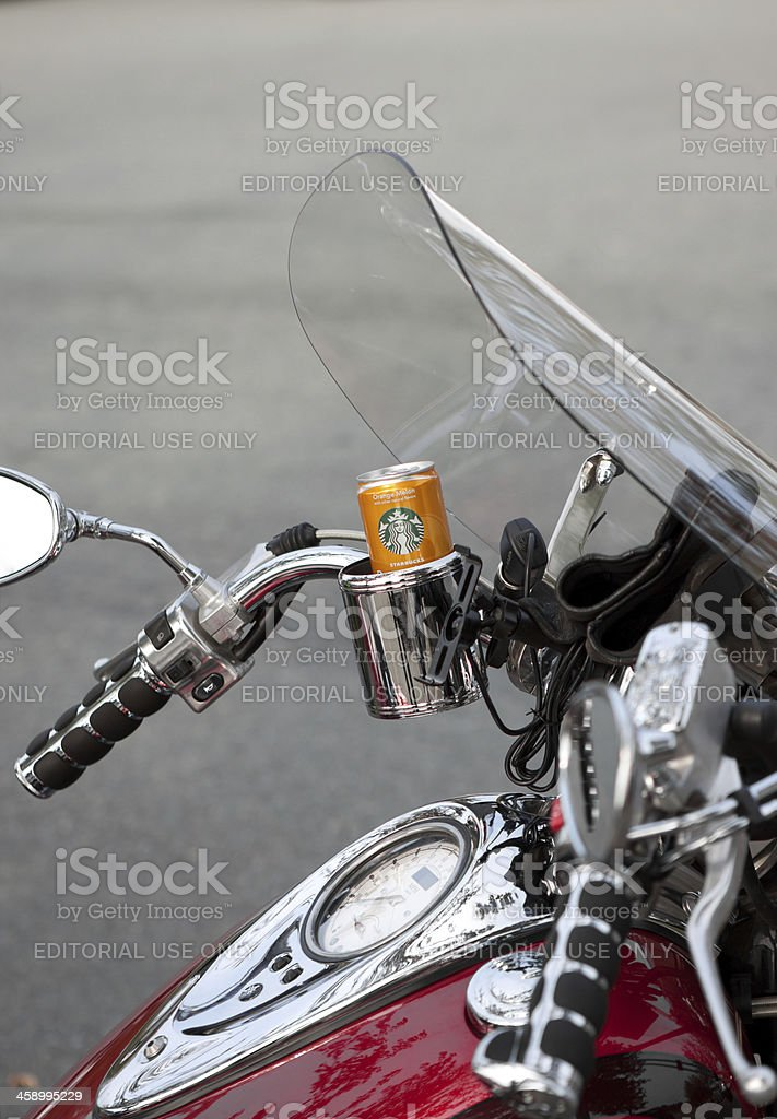 Starbucks for the Motorcyclist at Oyster Run 9-23-12 stock photo