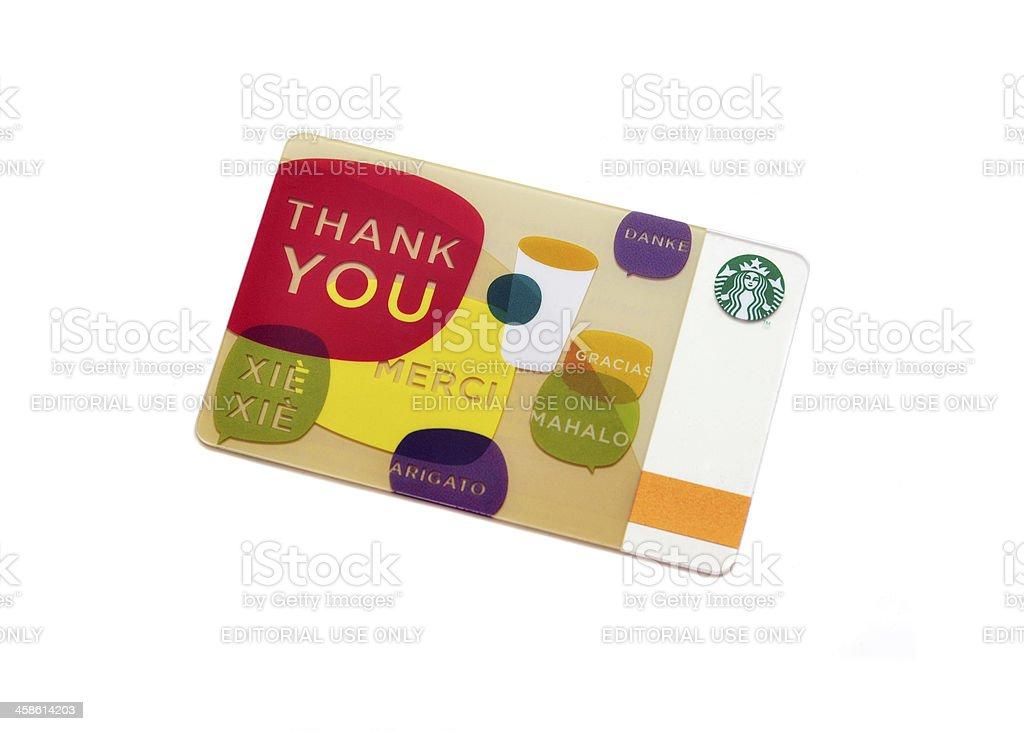 Starbucks Gift Card royalty-free stock photo