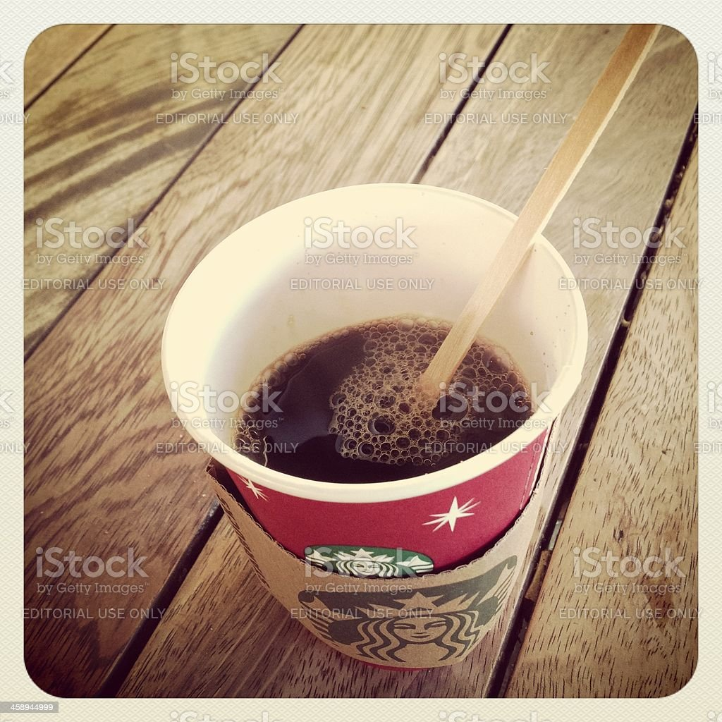 Starbucks Holiday Coffee Cup royalty-free stock photo