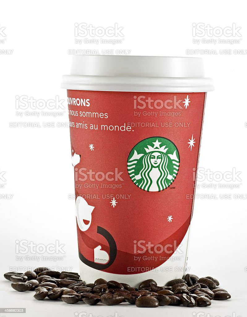 Starbucks Holiday Cup royalty-free stock photo