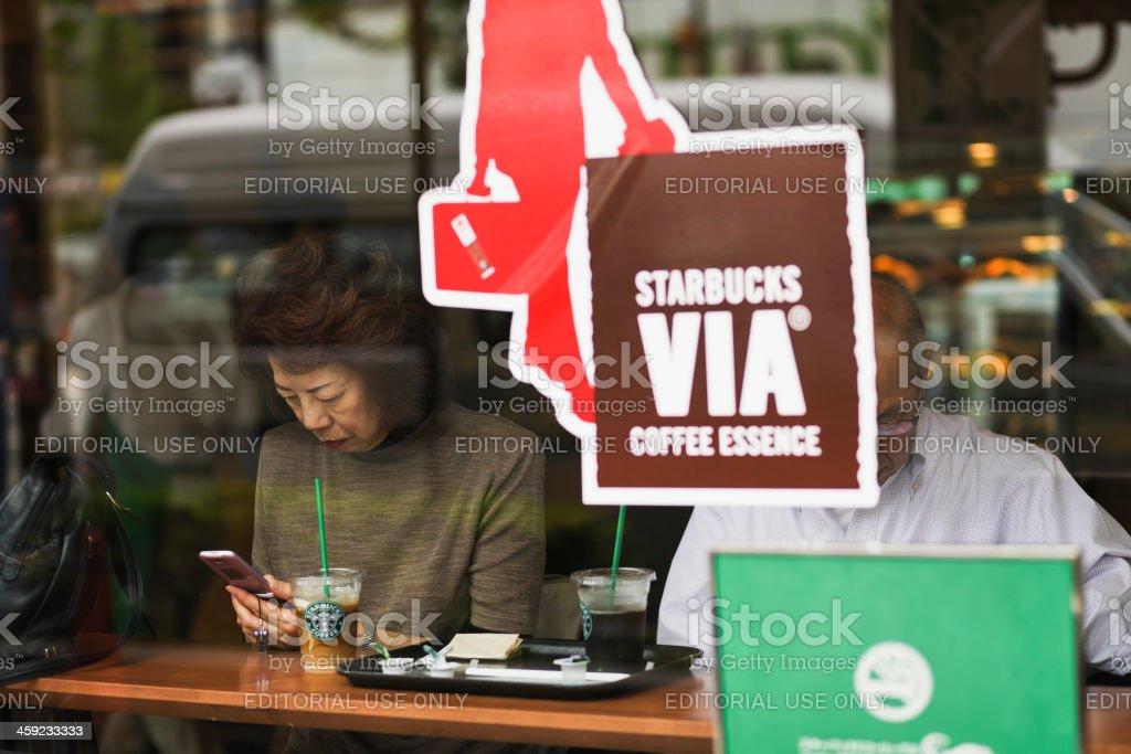 Starbucks, Kyoto royalty-free stock photo