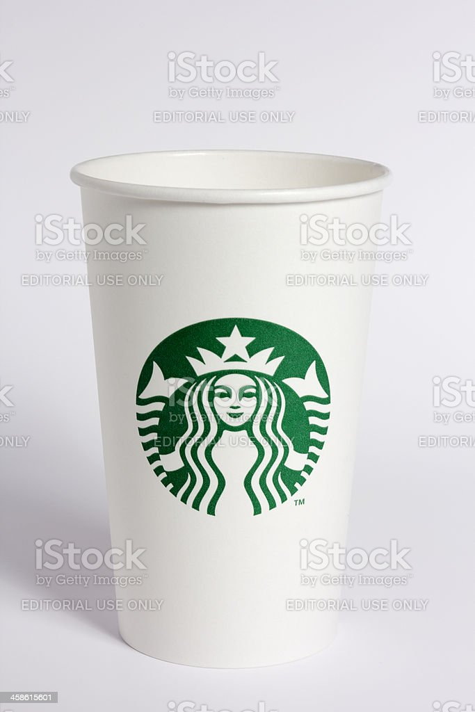 Starbucks Paper Cup royalty-free stock photo