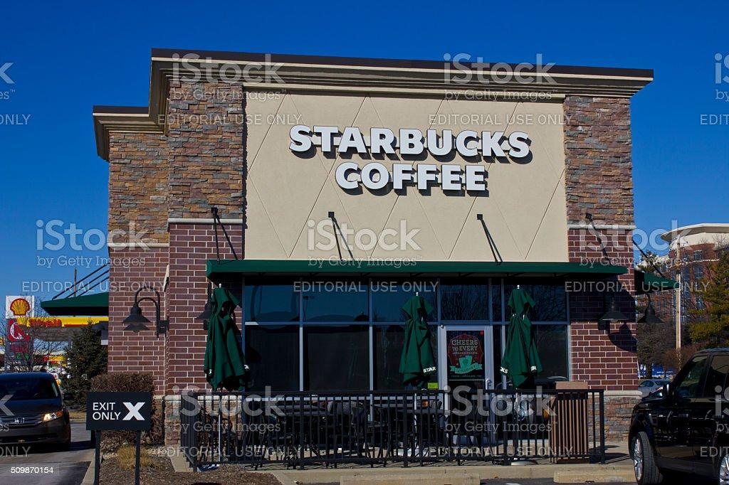 Indianapolis - February 2016: Starbucks Retail Coffee Store stock photo