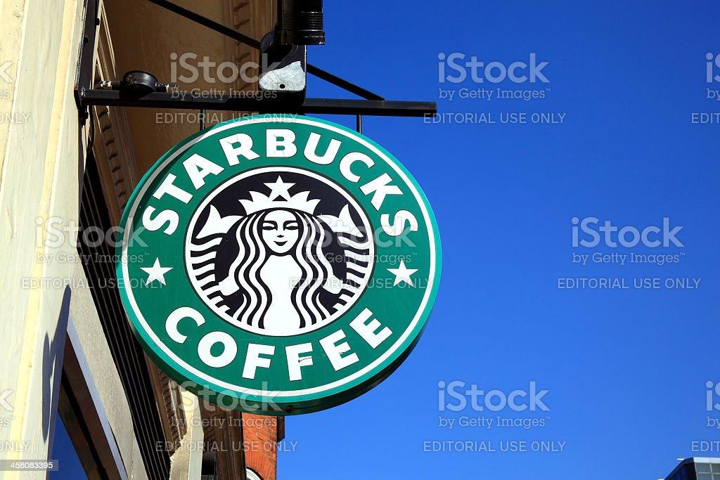 Starbucks Sign stock photo
