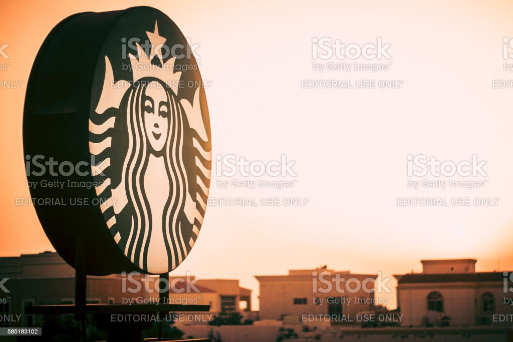 Starbucks Signboard stock photo